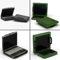 3d model of military laptops