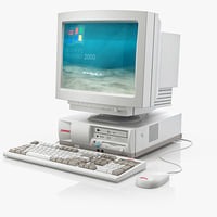 3ds max old pc compaq monitor