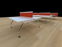 3d model ad-hoc desks
