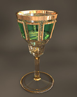 baroque crystal wine glass fbx