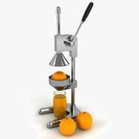 juicer orange juice 3d model