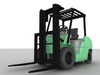 3d model of forklift
