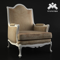 moses armchair - 3d max