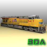 3ds max ge es44ac locomotive engines
