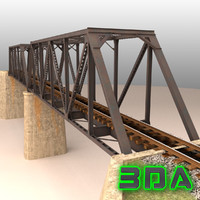 Rail bridge truss