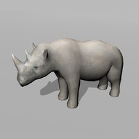 rhinoceros rhino 3d obj