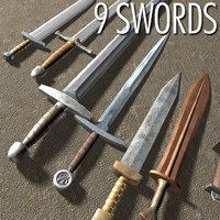 set swords 3d model