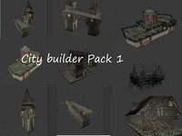 city builder pack building houses 3d 3ds