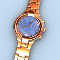 3d watch wristwatch model
