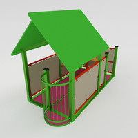 3d fbx playful set house