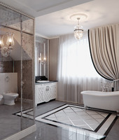 art deco scene bathroom 3d model