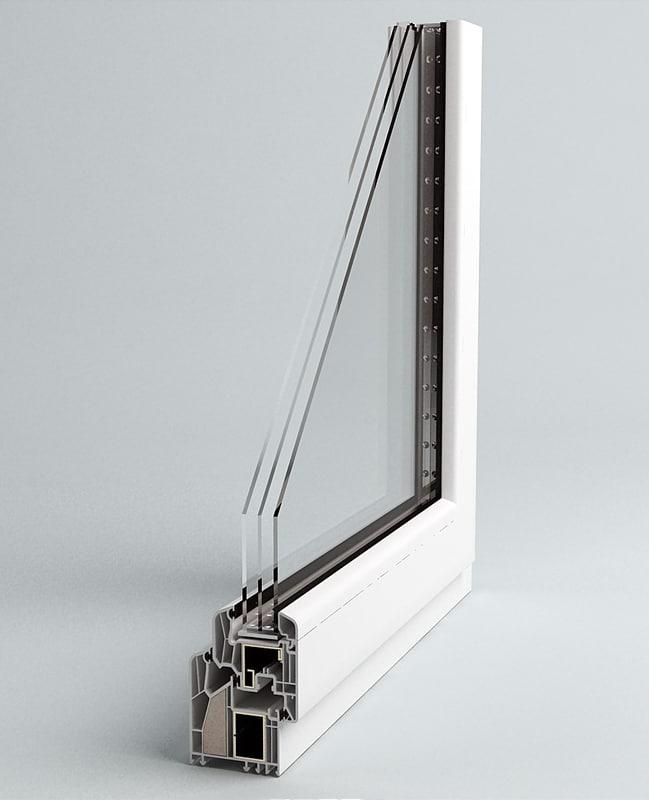 3d window section for Window 3d model