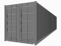 3d shipping cargo container
