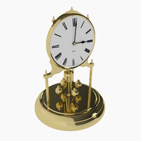 3d antique clock