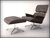 eames leather 3d max