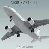 Airbus A319-200 Generic White