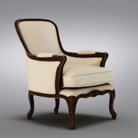pottery barn - armchair 3d model