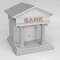 iconic bank structure 3d model