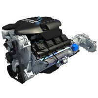 3d dodge ram v8 auto engine model