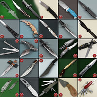 knives set knife 3ds