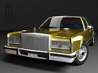 3d model town car mk1