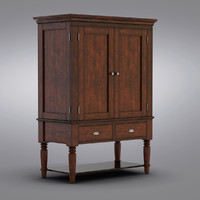Pottery Barn - Mason Media Armoire - Rustic Mahogany finish