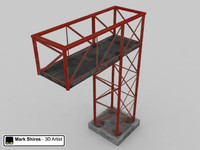 Metal Scaffold Structure - Low Poly