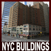 3d model nyc buildings downtown