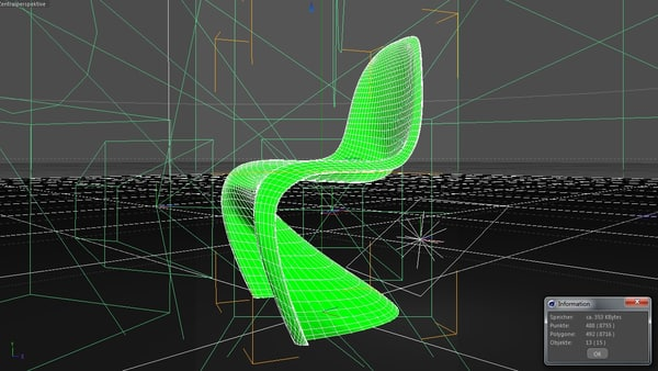 3d classic chair panton - Panton Chair... by BenJaun