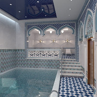 Scene Spa Pool Hammam