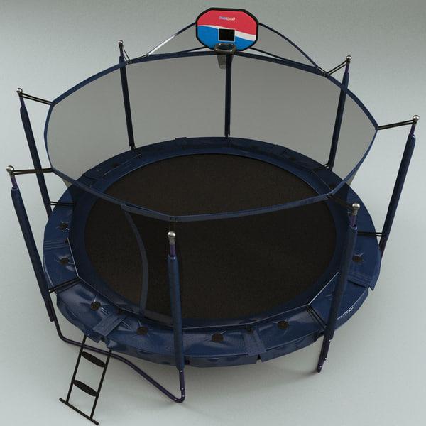 Review Jumpsport Elite Basketball Trampoline Package: 3d Trampolines Modelled Jumpsport