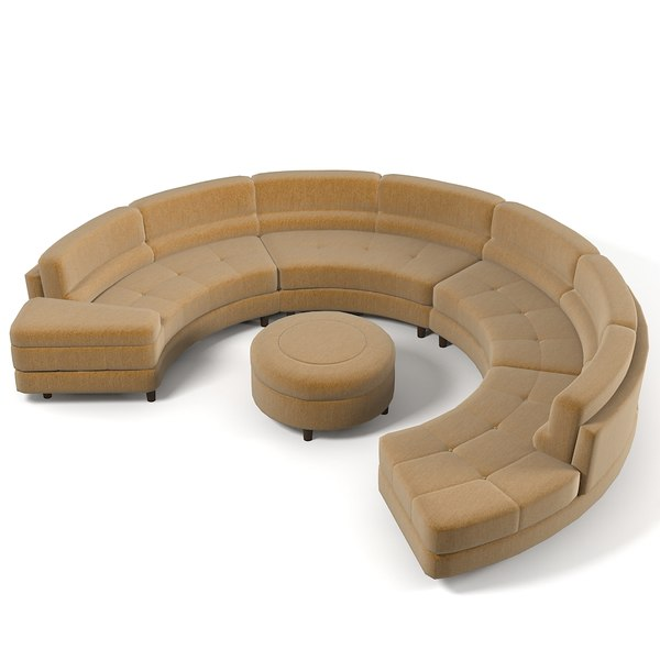 Large Circular Sectional Sofas: Wasser Sectional Sofa 3ds
