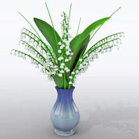 3d lily vase