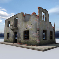 3d model ruin building