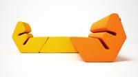 3dsmax evo sofa armchair
