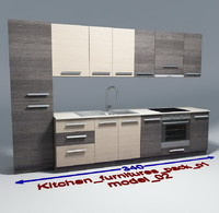 Kitchen furnitures with accesories model 02