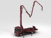 3d crane truck model