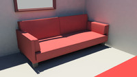 maya modern red futon couch bed