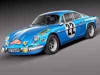 3d renault alpine rallye antique