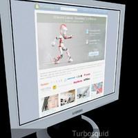 3d model monitor realistic
