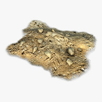 3d model rocks pile