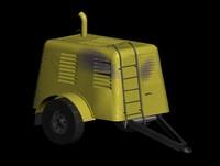 compressor old diesel 3d max