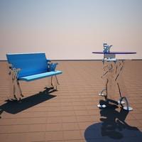 desk table 3d max