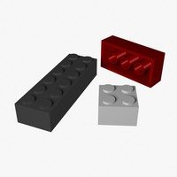 construction blocks 3d model