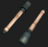 3d grenade stielhandgranate model