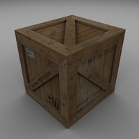 3d model wood carton