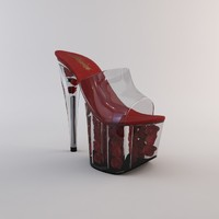 3d model of heel shoe 2