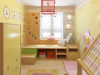 children room 3d max