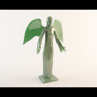 3d model angel statue