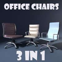 3 Office Chairs - Raja, Gaja i Vlaja